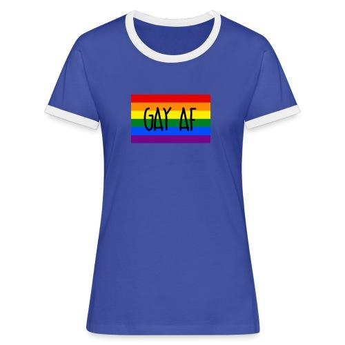 gay af - Frauen Kontrast-T-Shirt