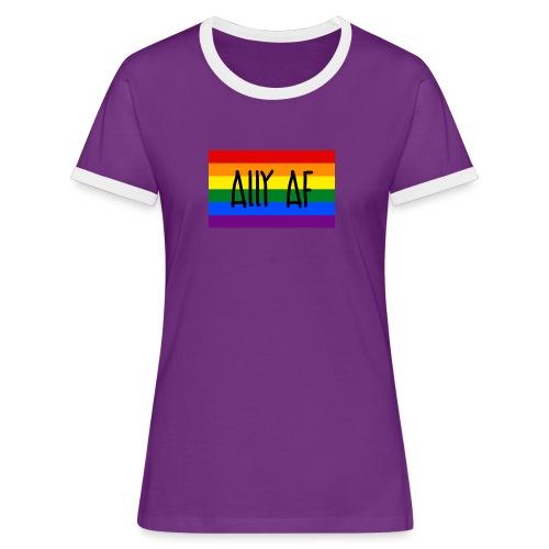 ally af - Frauen Kontrast-T-Shirt