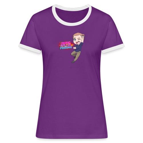 Jørgen spiller lommemonstre - Dame kontrast-T-shirt