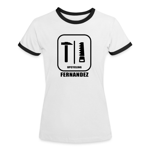 Upcycling-Fernandez - Frauen Kontrast-T-Shirt