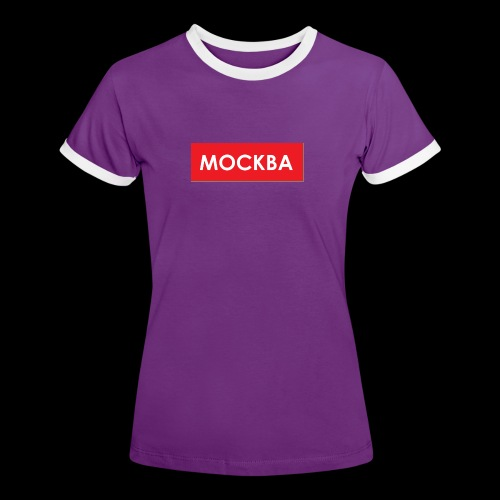 Moskau - Utoka - Frauen Kontrast-T-Shirt
