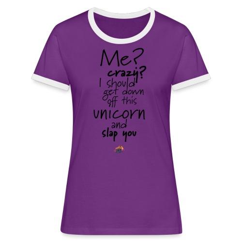 Crazy Unicorn Style (Dark) - Women's Ringer T-Shirt
