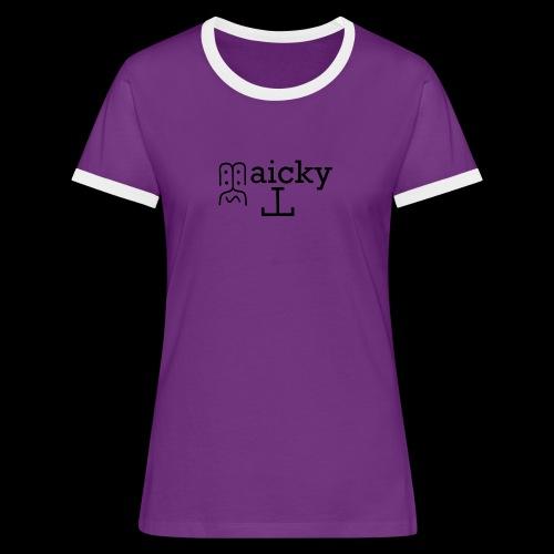 maicky Tv - Frauen Kontrast-T-Shirt