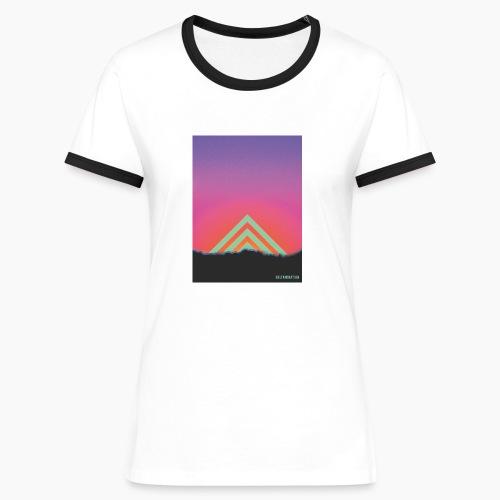 Deltamination Sunset - Frauen Kontrast-T-Shirt