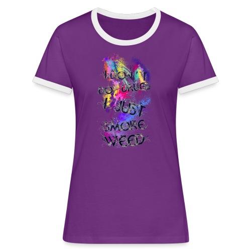 Just smoke - Frauen Kontrast-T-Shirt