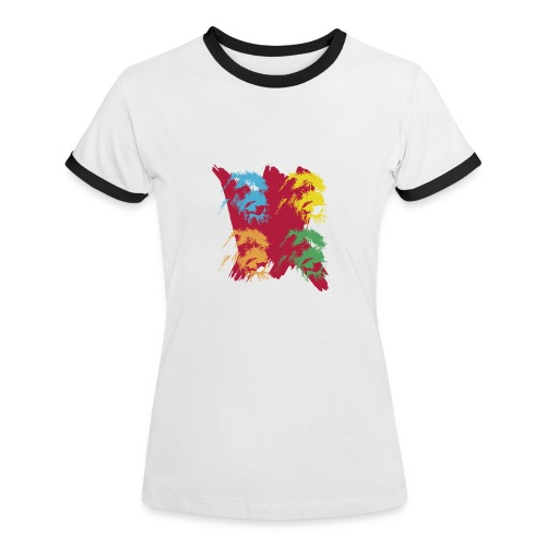 IW Splash red - T-shirt contrasté Femme