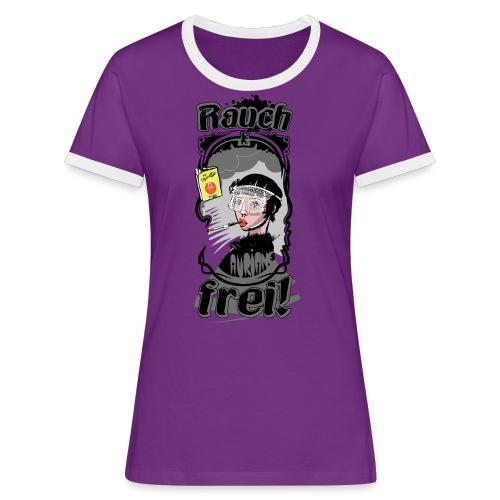 Rauch Frei! - Frauen Kontrast-T-Shirt