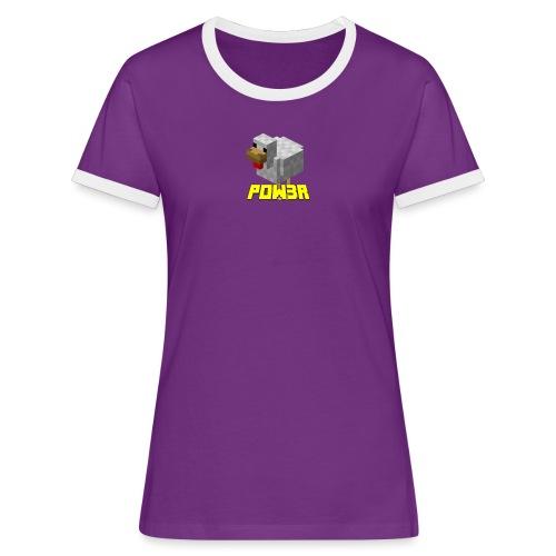 POw3r sportivo - Maglietta Contrast da donna