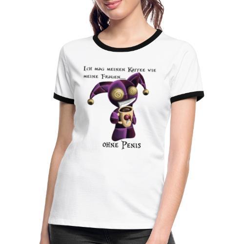 KaffeeÜberraschung - Frauen Kontrast-T-Shirt
