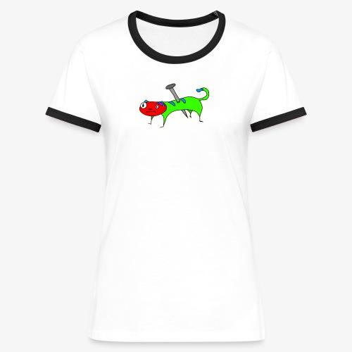 Kaatt - Kontrast-T-shirt dam