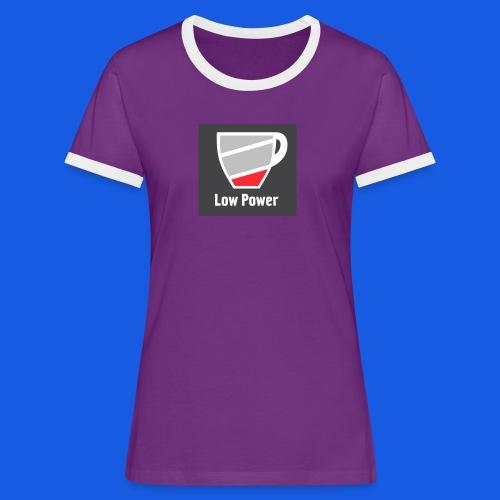 Low power need refill - Dame kontrast-T-shirt