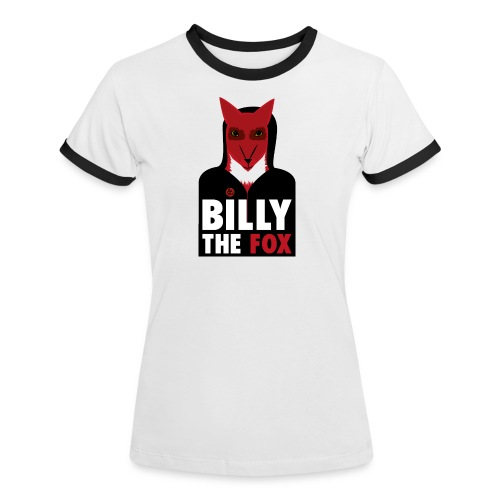Billy The Fox - Kontrast-T-shirt dam