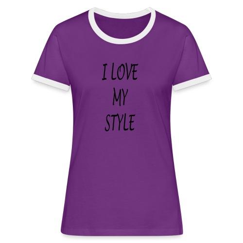3 - Maglietta Contrast da donna