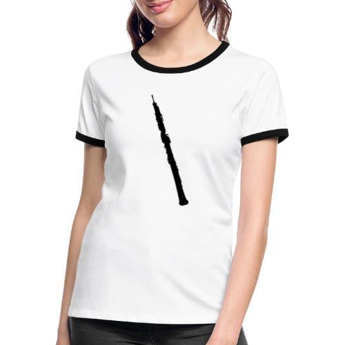 Oboe en sombra negro - Camiseta contraste mujer
