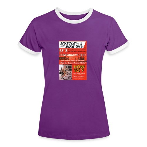 musclebike06 - T-shirt contrasté Femme