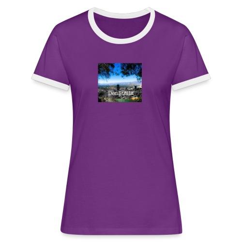 Denstella - Dame kontrast-T-shirt