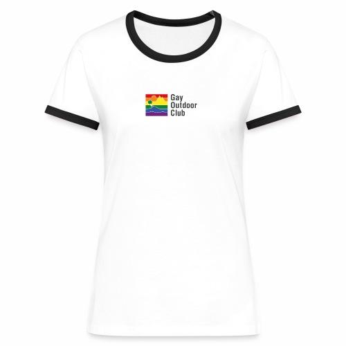 GOC Logo Black Text - Women's Ringer T-Shirt