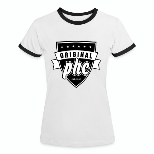 PHC transparent - Kontrast-T-shirt dam