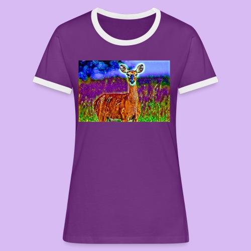 Cerbiatto con magici effetti - Maglietta Contrast da donna