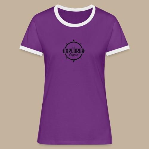 Black TEO Logo - Women's Ringer T-Shirt