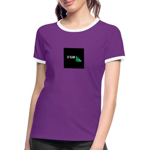 LF CLAN - Kontrast-T-shirt dam