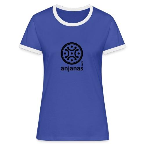 anjanas negro - Camiseta contraste mujer