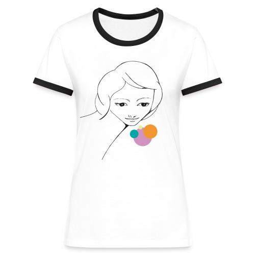 CHICA PRIMAVERA - Camiseta contraste mujer