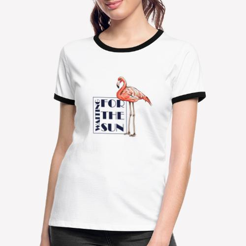 Flamingo - Frauen Kontrast-T-Shirt