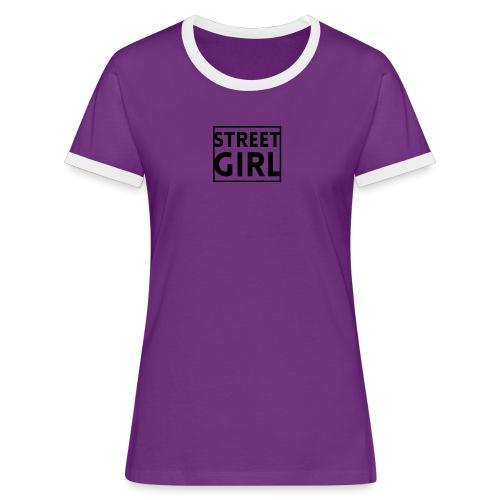 girl - T-shirt contrasté Femme