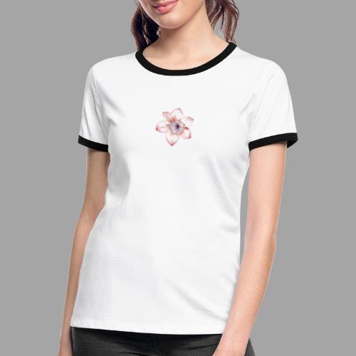 Fiore Rosa Antico - Maglietta Contrast da donna