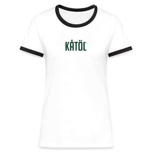 kåtöl_text_green - Kontrast-T-shirt dam