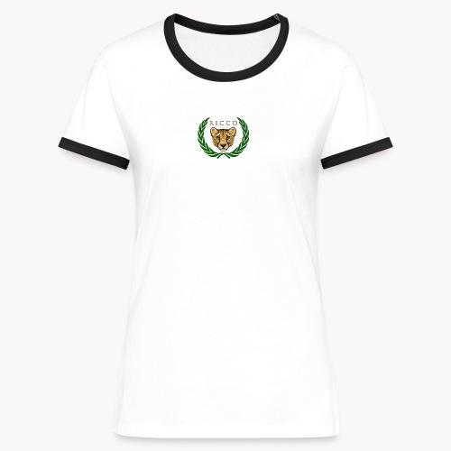 Ricco - Frauen Kontrast-T-Shirt