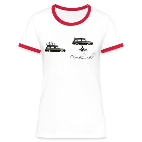 freedom rider - T-shirt contrasté Femme