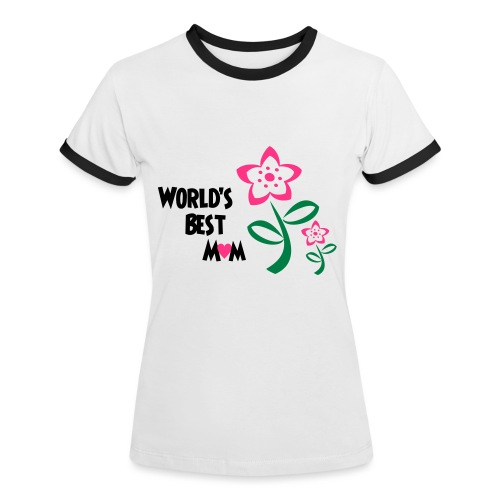 World's Best Mum - Women's Ringer T-Shirt