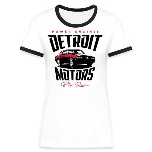 Detriot Motors - Camiseta contraste mujer