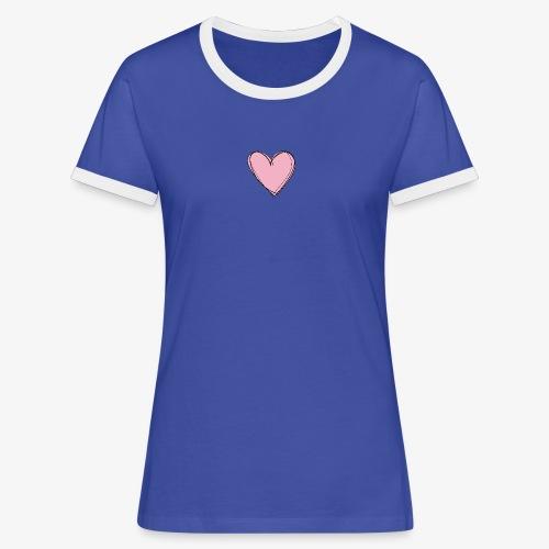 Pink Love Tee - Vrouwen contrastshirt