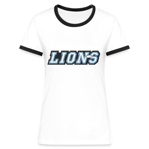 T-Shirt play on - Frauen Kontrast-T-Shirt