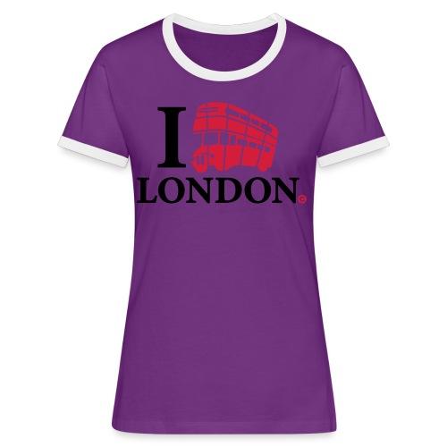 I love (Double-decker bus) London - Women's Ringer T-Shirt