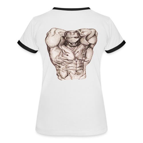 Wenn's weh tut, wächst's! - Frauen Kontrast-T-Shirt