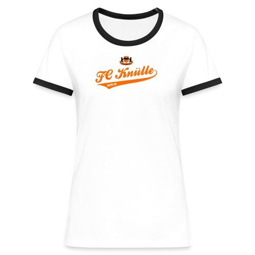 Schriftzug - Frauen Kontrast-T-Shirt