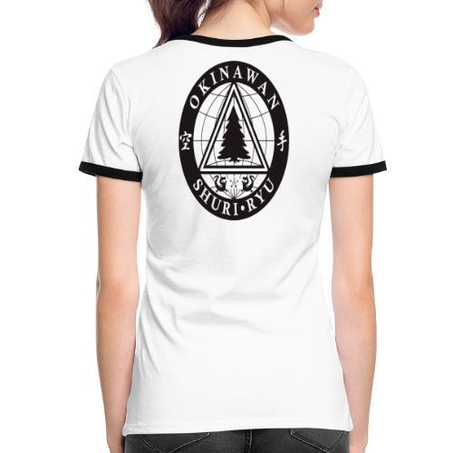 Instruktør mærke Ryg placering - Dame kontrast-T-shirt