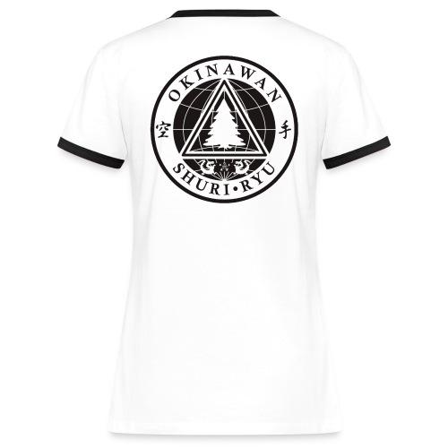 Klubmærke Ryg placering - Dame kontrast-T-shirt
