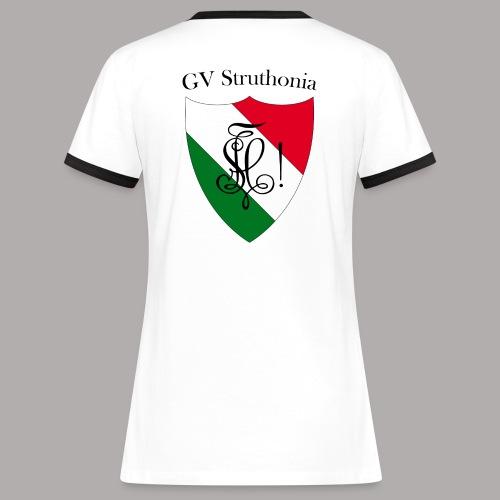 Wappen Struthonia beschriftet - Frauen Kontrast-T-Shirt
