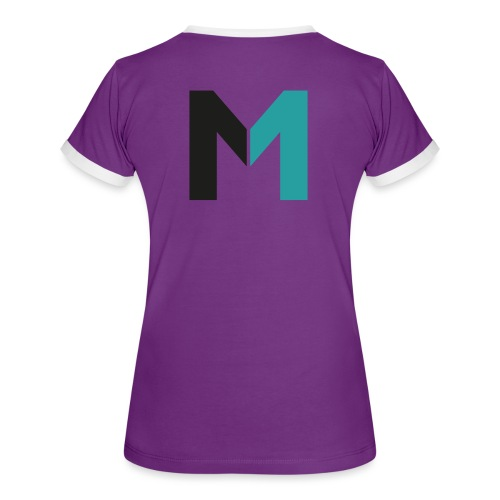 Logo M - Frauen Kontrast-T-Shirt
