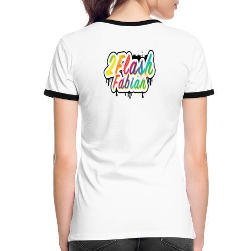 2Flash Fabian Backprint weiß - Frauen Kontrast-T-Shirt