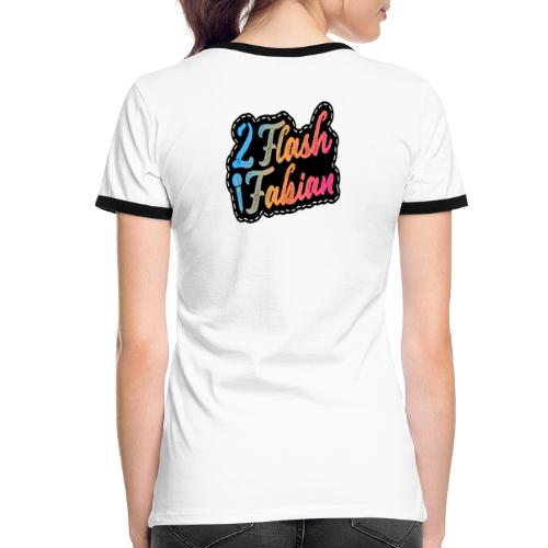 2Flash Fabian - Frauen Kontrast-T-Shirt