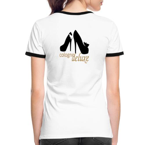 Cologne Deluxe High Heels - Frauen Kontrast-T-Shirt