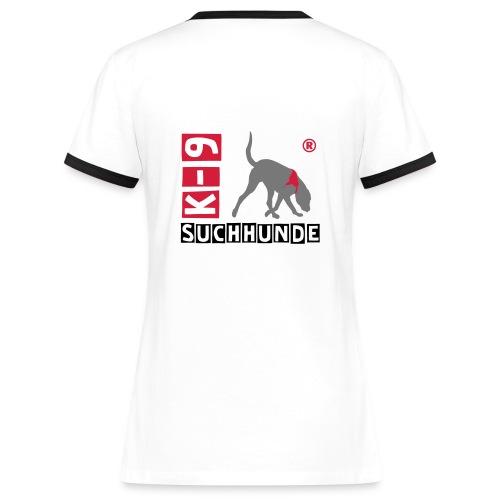 suchhunde - Frauen Kontrast-T-Shirt