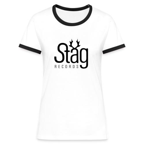 logo 2 weiss - Women's Ringer T-Shirt