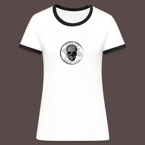 Sardegna Teschio Pirata - Maglietta Contrast da donna